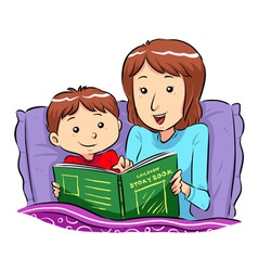 Bed Time Story vector image