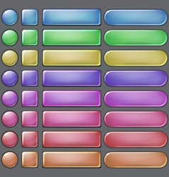 Colored web buttons vector image vector image