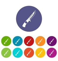 Knife set icons vector image vector image