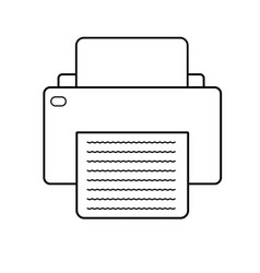 printer icon on white background printer sign vector image vector image