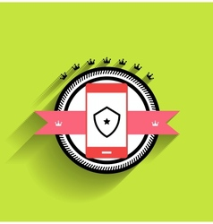 smartphone icon flat design vector image vector image