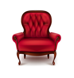 vintage red armchair vector image vector image