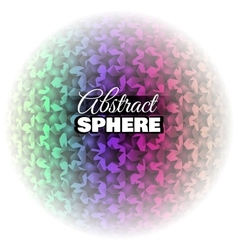 Abstract Floral Sphere vector