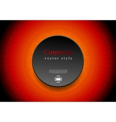 Abstract red tech background with black circle vector