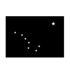 Alaska ak state flag united states america vector