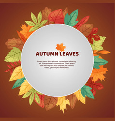 autumn leaves poster green vector image