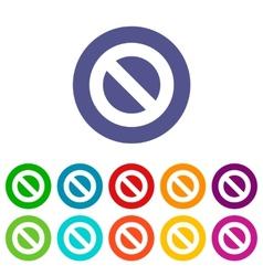 Ban flat icon vector