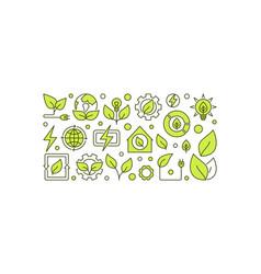 bio-energy concept banner vector image