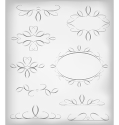 Black and white set a lot of design vector