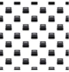 Black square button pattern vector