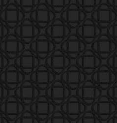 Black textured plastic crossing ovals vector