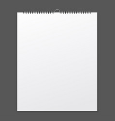 blank design calendar on a grey background with vector image