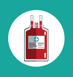 Blood bag donation concept vector