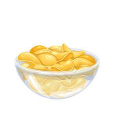 Bowl potato chips vector