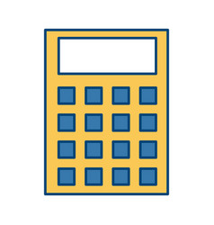 calculator math device vector image