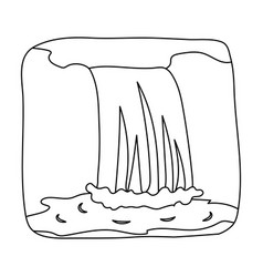 Canadian waterfall canada single icon in outline vector