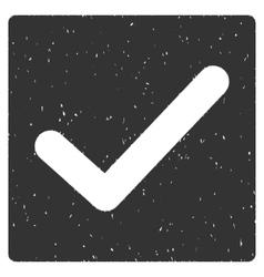 Check Icon Rubber Stamp vector