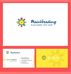 chemical bonding logo design with tagline front vector image