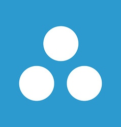 circle diagram icon white on the blue background vector image