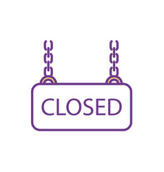 closed sign rgb color icon vector image