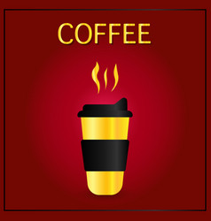 coffee to go cup cartoon coffee into vector image