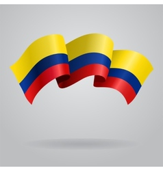 Colombian waving Flag vector image