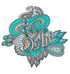 Colorful decorative hand drawn doodle nature vector