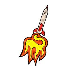 comic cartoon missile vector image