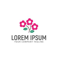 cosmos flower logo design concept template vector image