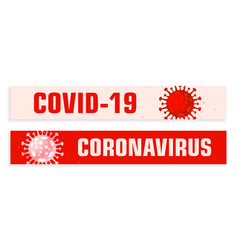 Covid19 coronavirus wide banners set in red shades vector