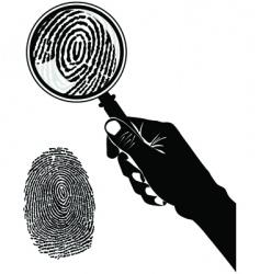 Crime scene fingerprint vector