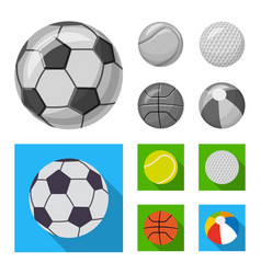 Design of sport and ball logo set of sport vector