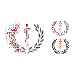 Dispersed pixel halftone healh care emblem icon vector