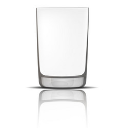 empty glass mockup realistic style vector image