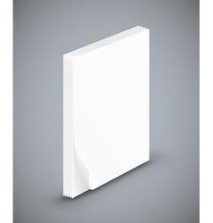 Empty paper three sheets vector image