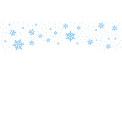 falling blue snow possibility of overlay vector image