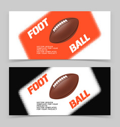 Flyer or web banner design with american football vector