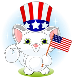 fourth july kitten vector image