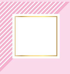 Frame square cartoon vector