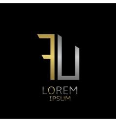FU letters logo vector image