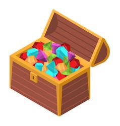 gemstone treasure box icon isometric style vector image