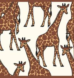 Giraffe allover vector
