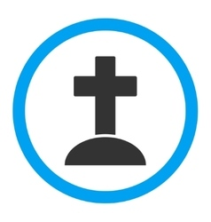Grave Rounded Icon vector