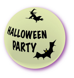 halloween party icon vector image