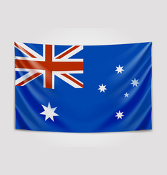 Hanging flag of australia commonwealth of vector