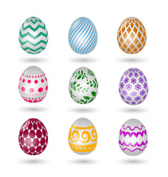 Happy easter eggs icons colored paschal vector