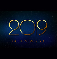 Happy new year 2019 background vector