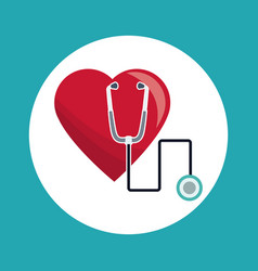 Heart stethoscope medical concept vector