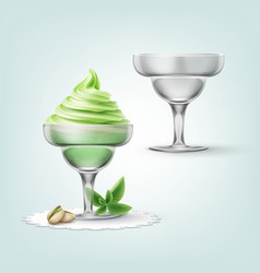 ice-cream in cup vector image