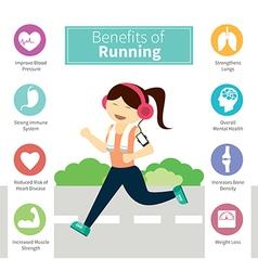 Infographic benefits running vector